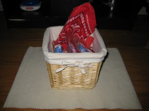 Red Treasure Basket