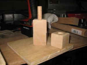 Cubes on a dowel