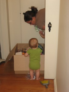 Helping Mommy unpack