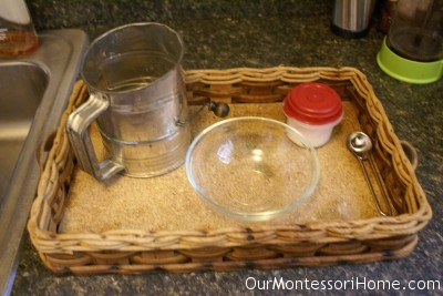 Montessori Flour Sifting