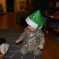 Thumbnail image for Montessori Christmas: Trying on Hats & Beading Candy Canes {day 4}