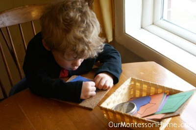 Montessori pin poking