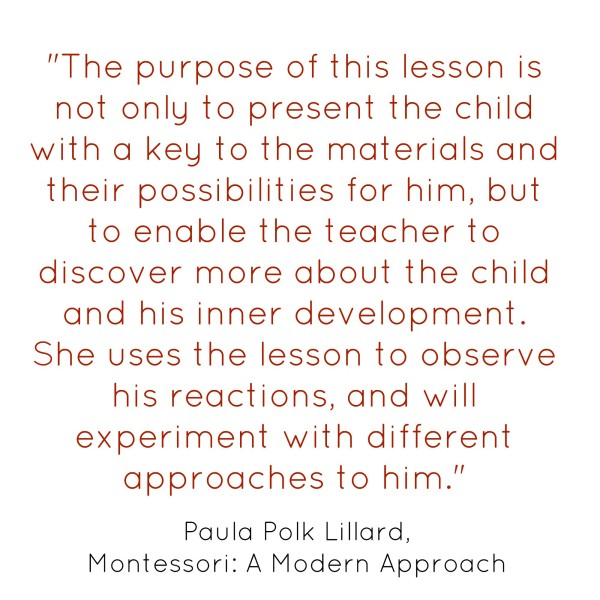 How to Present a Montessori Lesson