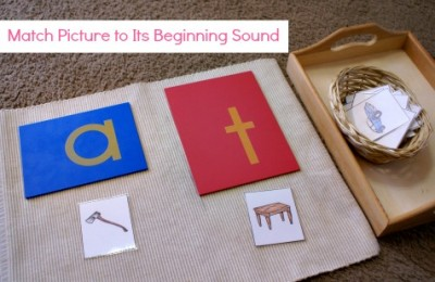 Montessori Pink Series: Matching Picture to Beginning Sound