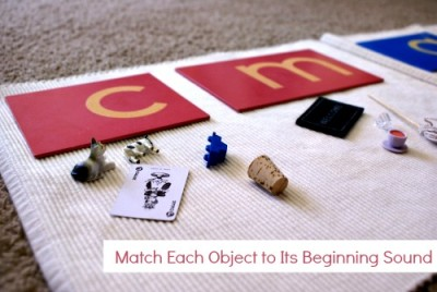 Montessori Pink Series: Object to Beginning Sound
