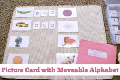 Picture Card with Moveable Alphabet