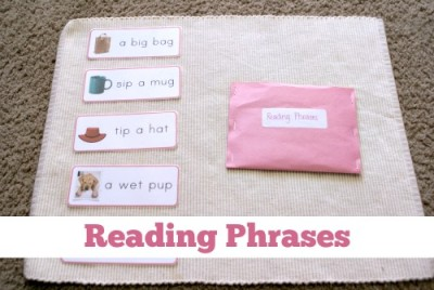 Montessori Pink Series: Reading Phrases