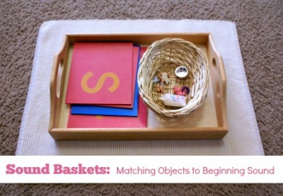 Montessori Pink Series: Sound Baskets