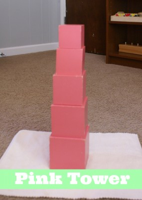 Montessori Sensorial Activities for Toddlers - Pink Tower