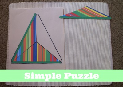 Montessori Sensorial Activities for Toddlers - Simple Puzzle
