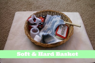 Montessori Sensorial Activities for Toddlers - Soft & Hard Basket