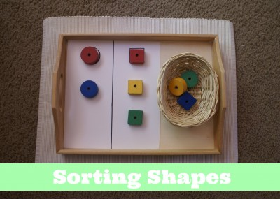 Montessori Sensorial Activities for Toddlers - Sorting Shapes