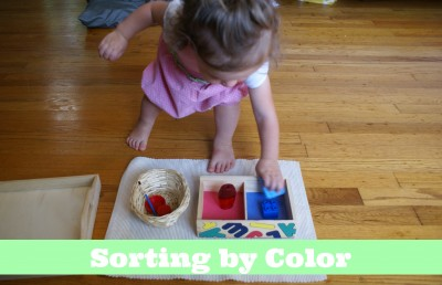 Montessori Sensorial Activities for Toddlers - Sorting by Color