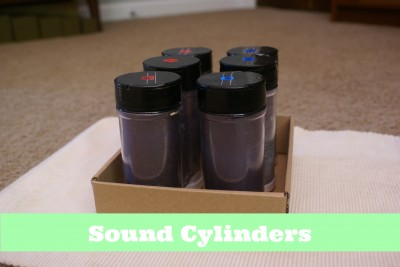 Montessori Sensorial Activities for Toddlers - Sound Cylinders