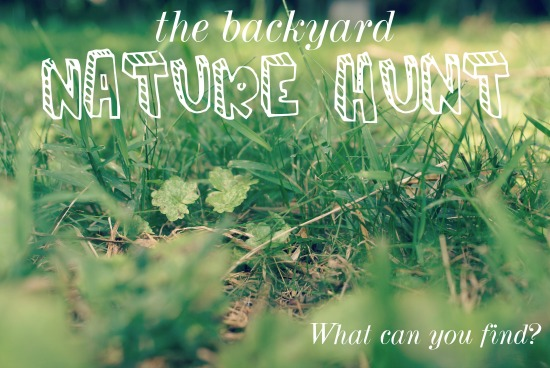 The Backyard Nature Hunt :: What can you find?