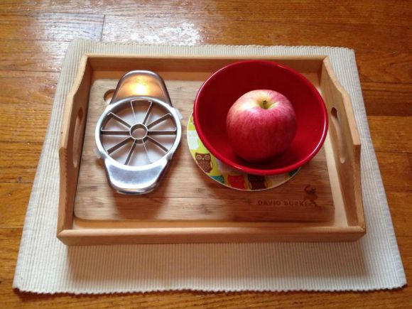 Montessori Apple Themed Activities - Apple Chopping