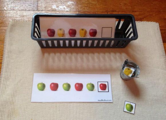 Montessori Apple Themed Activities - Apple Patterning