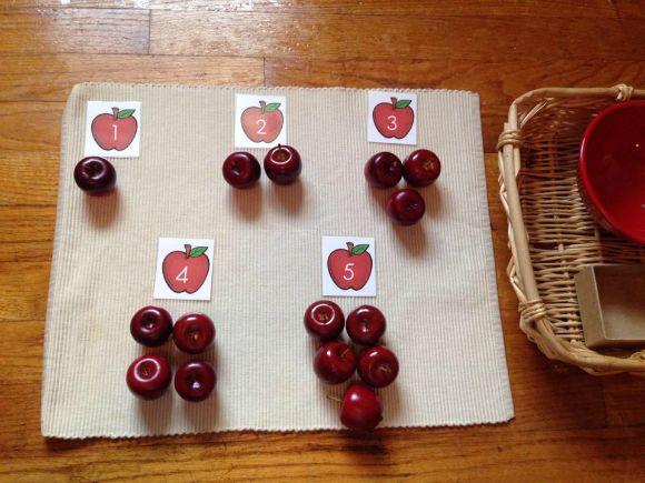 Montessori Apple Themed Activities
