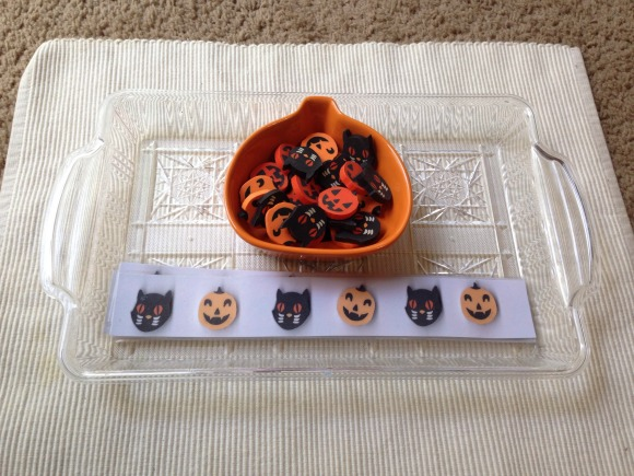 Montessori Halloween Activities - Halloween Patterning