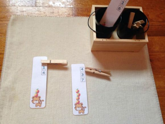 Montessori Apple Themed Activities - Number Clip Cards