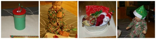 12 Days of Montessori Christmas - Infant Toddler Activities, Days 1-4