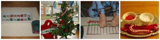 12 Days of Montessori Christmas - Preschool Activities - Day 1-4