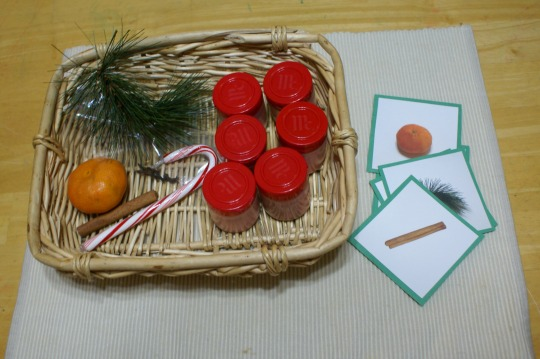 Montessori Christmas Activities for 3 - 6 Year Olds - Christmas Smelling Bottles & Matching Object to Smell
