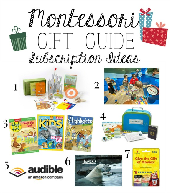 Montessori Christmas Gift Guide Subscription Ideas
