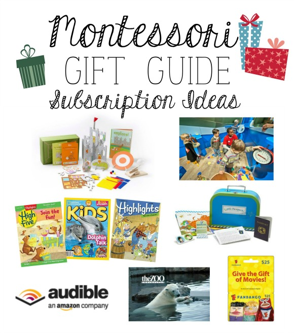 Montessori Gift Guide Subscription Ideas for Families