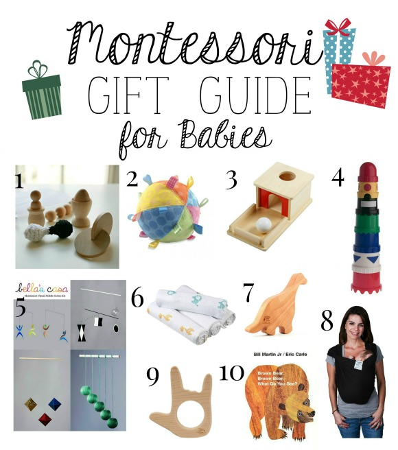 Montessori Christmas Gift Guide for Babies