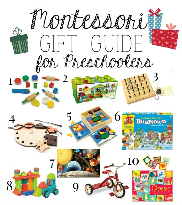 Montessori Christmas Gift Guide for Preschoolers