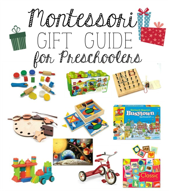Montessori Gift Guide for Preschoolers