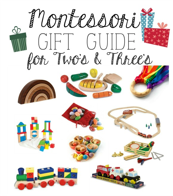 Montessori Gift Guide for Two's & Three's