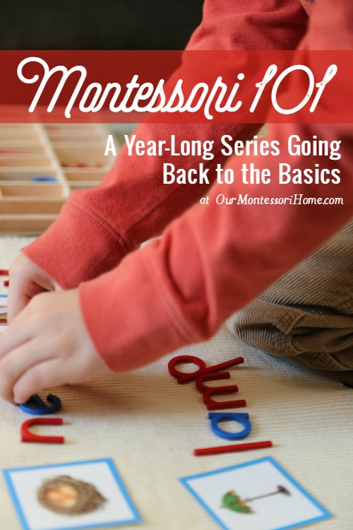 Montessori 101 - Want to know more about the Montessori Method? Join us for a year-long series looking at Montessori education---from the philosophy of the child to how Montessori influences parenting, the areas of the classroom, and how to incorporate Montessori at home.