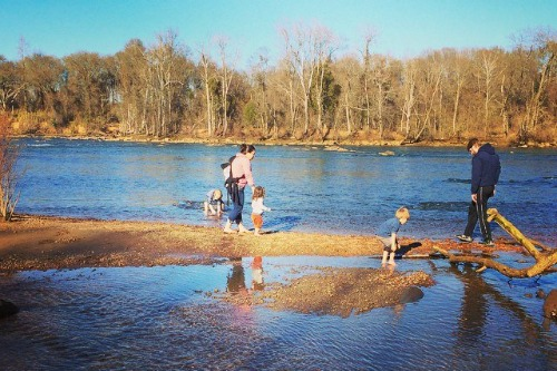 Family at the River