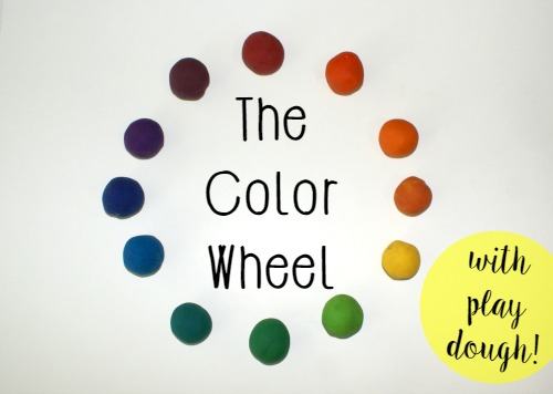 The Color Wheel with Play Dough