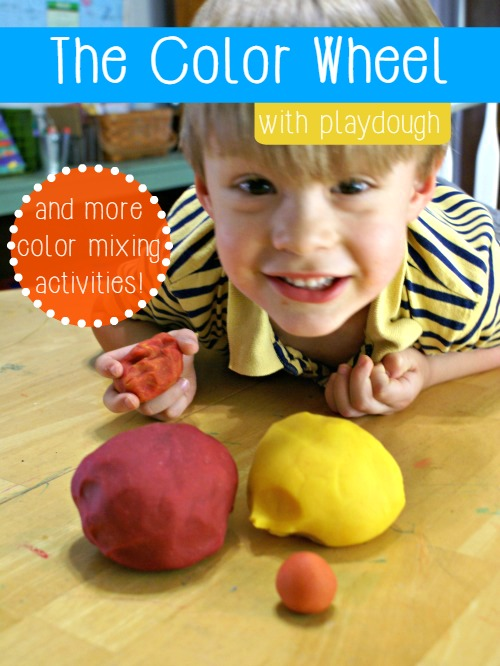 The Color Wheel with Play Dough & more color mixing activities!