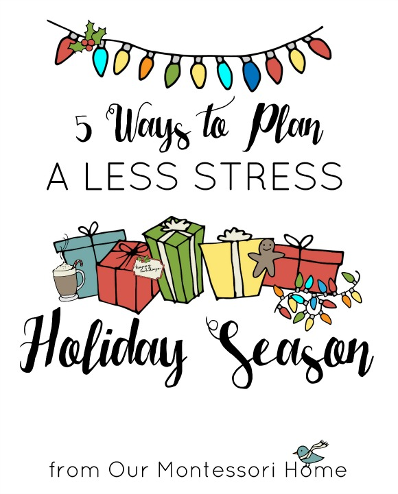 5 Ways to Plan a Less Stress Holiday Season