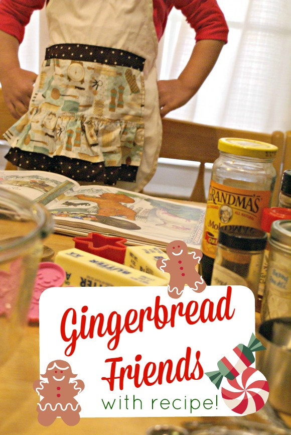 Gingerbread Friends & Gingerbread Cookie recipe for cooking with kids in the kitchen.
