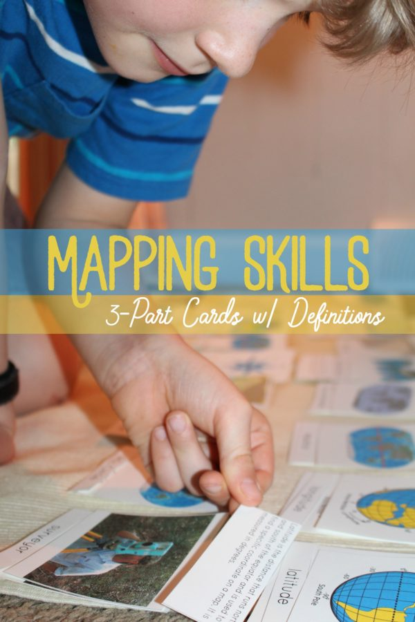 Mapping Skills 3 Part Cards with Definitions